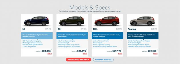 2017 Honda CR V 34 4 630x226 2017 Honda CR V Changes and Price